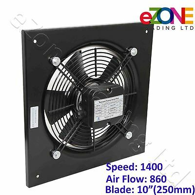 250mm Industrial Ventilation Metal Fan Axial Commercial Air Extractor Quiet