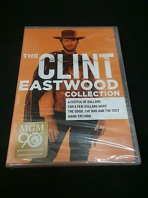 CLINT EASTWOOD Collection DVD Film 4 Westerns Movie Set Wolfgang Lukschy New