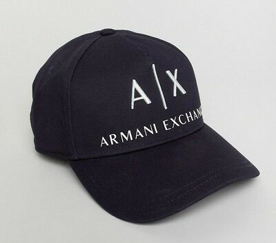 f4de8ba9a78c4 Armani Exchange   Baseball Cap Logo HAT 100% Cotton Adjustable DARK NAVY B14