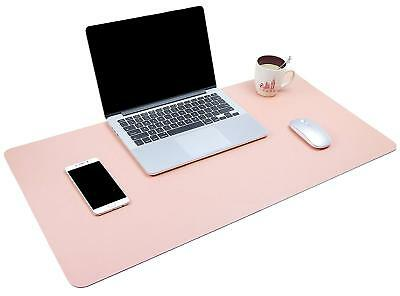 "Multifunctional Office Desk Pad, 35.4"" x 17"" Ultra Thin Waterproof PU Leather Pa"