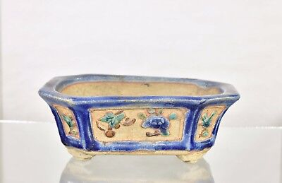 Antique Chinese Multicolored Ceramic / Pottery Flower Pot, 19th c