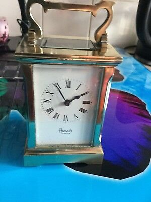 Harreds Antique Carriage Clock Good Working Order