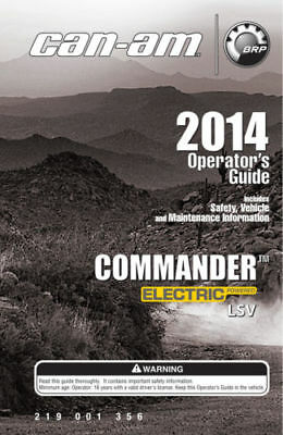 New Can-Am Commander Electric LSV 2014 Owners Operators Manual Paperback