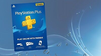 12 Month Playstation PS Plus(Ps4-Ps3-Vita) (NO CODE)