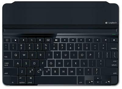 Logitech Ultrathin Space Gray Magnetic Clip-On Keyboard Cover for iPad Air