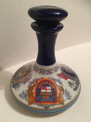 Large Wade Nelson Ship's Decanter Pusser's Rum  Rare Decanter Collectable