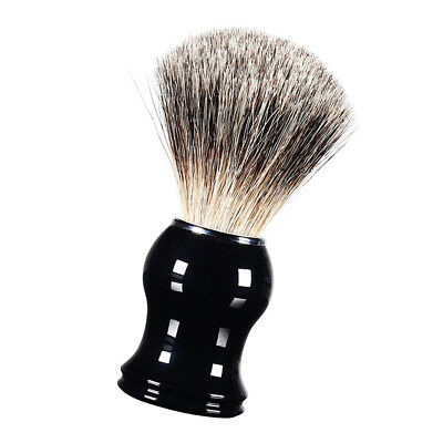 Black Men's Beard Shaving Brush Barber Home Salon Facial Hair Cleaning Tool
