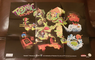 Toxic Trouble Nintendo N64 PAL - WORLD MAP ONLY - RARE