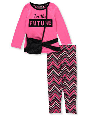 Dream Star Girls' 2-Piece Leggings Set Outfit with Purse