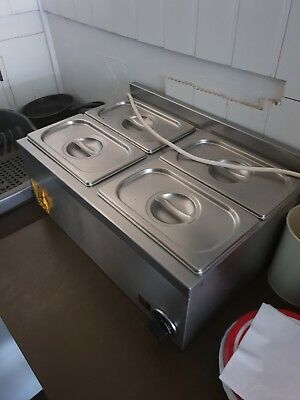 working Baine Marie 4 Pot Commercial Food Warmer Heater Electric with lids