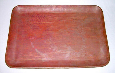 """Vintage Solid Hammered Copper Rectangular 16.5""""x11.5"""" Large TRAY"""
