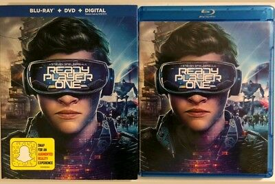 Ready Player One Blu Ray And Dvd 2 Discs Set W/ Slipcover. Free Shipping