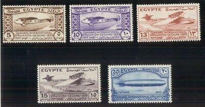EGYPT #172-6, Complete Aviation set, og, LH/NH, VF, Scott $90.00+
