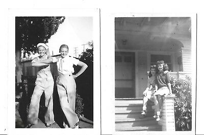 VINTAGE PHOTOS LOT Of 2 GALS LADIES GIRLS Wearing SADDLE SHOES  TWO PHOTOGRAPHS