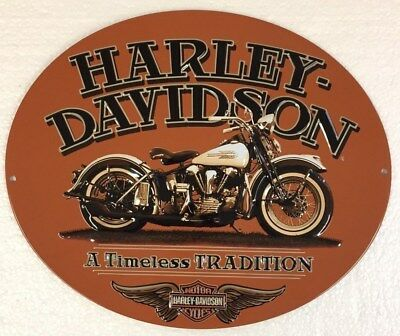 Ande Rooney HARLEY DAVIDSON A TIMELESS TRADITION Tin HD Motorcycle Garage Sign