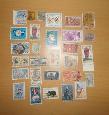 Vintage Stamps Tunisia - 20 Stamps