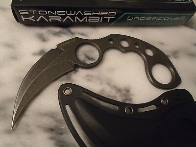 United Undercover Stone Wash Dual Edge Karambit Dagger Claw Knife Kydex 1466SW