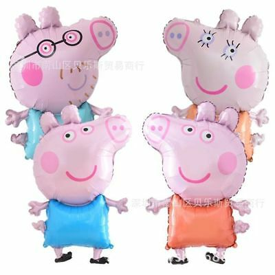 "32"" Peppa pig George Balloon Birthday Party Foil Air Helium Fill Balloon Gift"