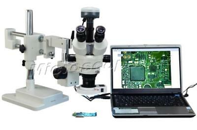 Zoom Stereo Dual-arm Boom Stand 54 LED Microscope 90X+9.0MP USB Camera