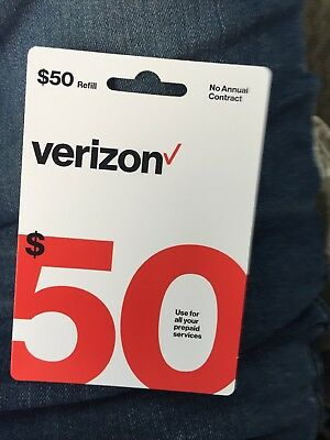 Brand New $50 Verizon Wireless Prepaid Refill Card (Email Delivery)