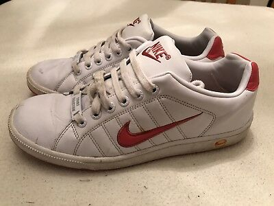 a28ce7f64e4c20 Women s Nike White Leather Court Tradition Trainers Size Uk 6
