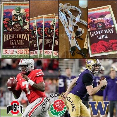**rose Bowl Game Tickets (2 Tickets) - Washington Vs Ohio St-Receive By Xmas**