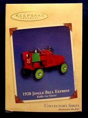 NEW 2002 Hallmark 1928 JINGLE BELL EXPRESS Kiddie Car Classics #9 Ornament