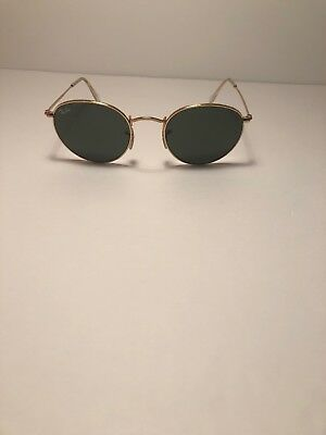 18977de7a7 RAY BAN ROUND Metal RB3447 001 50  21 3N Gold Sunglasses (Made In ...