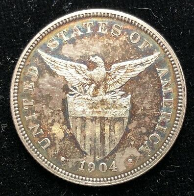 1904 50 Centavos US-Philippines  Proof Silver Coin