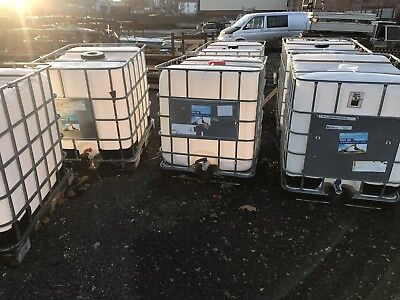 1000ltr IBC Oil Tanks. Logs Wood Storage.