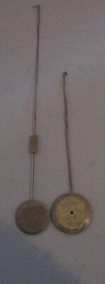 Lot of 2 - Original Antique French Silk Thread Pendulums  #A-16