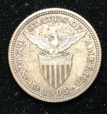 1905 20 Centavos US-Philippines  Proof Silver Coin