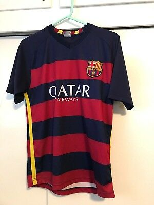 1ba49804107 FC Barcelona FCB Soccer Football Jersey Daniel Qatar Airways Blue Red Mens S
