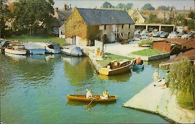the Wharf and boating yard at Lechlade-on-Thames UK