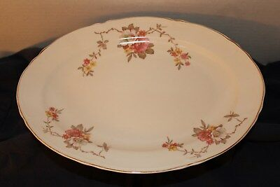 Edwin M Knowles China Oval Semi-Vitreous Serving Platter (#4810)-Pink Wild Count