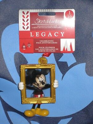 Mickey Mouse Legacy 90th Sketchbook Limited Ornament Disney Brand New 2018