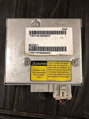 98 99 Oldsmobile Intrigue 09353511 Abs Control Module