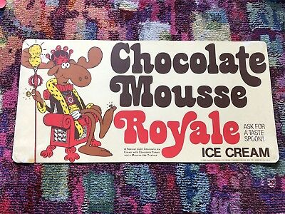 Vintage Baskin Robbins Ice Cream 31 Flavors Sign Chocolate Mousse Royale