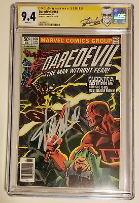 Daredevil #168 - CGC 9.4 by Signed Stan Lee - 1st Elecktra - Origin
