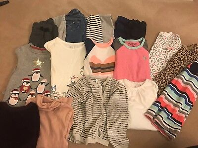 Girls 3-4 Year Bundle Gap Next Polo Jeans Trousers Tops 18 Items Great Condition