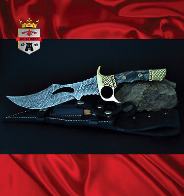 Damascus collectable knife, 079 Arma KingForge, tacticle weapon knives gift