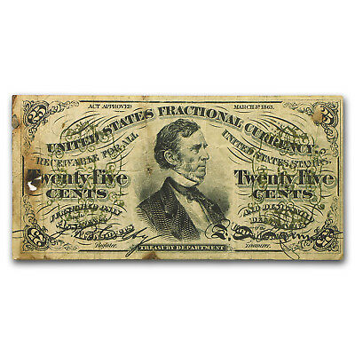 3rd Issue Fractional Currency 25 Cents Fine Details (FR#1294) - SKU #93268