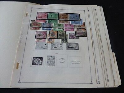 Ghana 1957-1967 Mint/Used Stamp Collection on Scott Int Album Pages