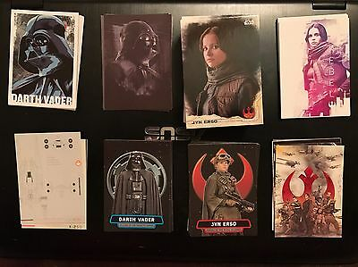 2016 Topps Star Wars Rogue One Series 1 Master Set 7 Inserts 155 Cards Jyn Vader
