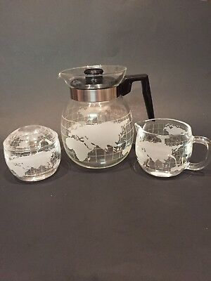 Vintage Nestle Nescafe COFFEE POT with LID and CREAMER & SUGAR with LID   LOOK!