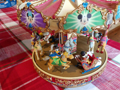 MR CHRISTMAS DISNEY MICKEY HOLIDAY CAROUSEL MOTION 30 SONGS- Complete in Box