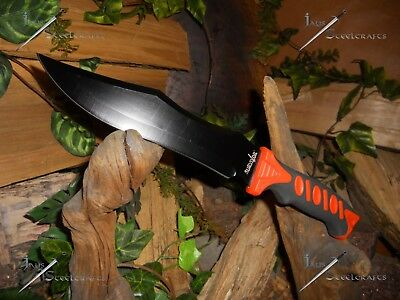 Survivor/Bowie/Knife/Blade/Rubber grip/Combat/Survival/SCRATCH & DENT