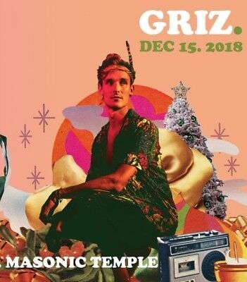 12/15/18 Grizmas Ticket (3 Available) Griz DJ Set - GA Floor Detroit