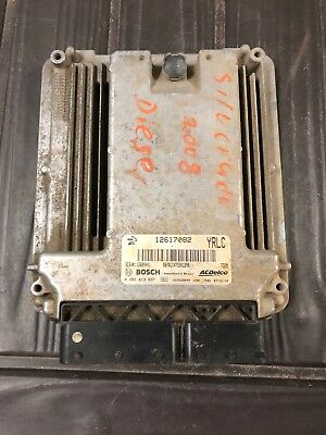 07-10 CHEVY SILVERADO 2500 3500 PICKUP Engine Brain Box 12617082 YRLC OEM