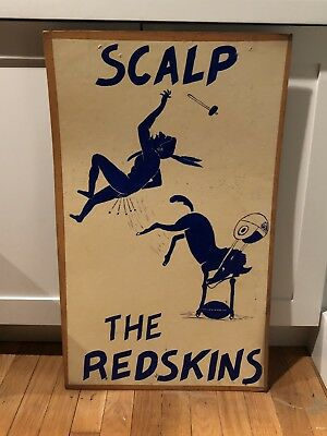 1950's Baltimore Colts Cardboard Sign Made By Super fan Wille The Rooter Redskin